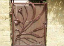 ogrodzenie kute, bramka artystyczna