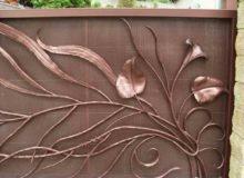 artystyczne ogrodzenie zestali