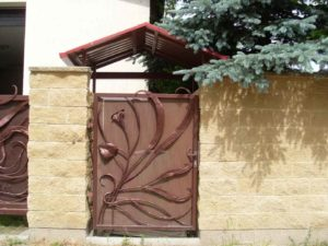 bramka stalowa artystyczna Gdańsk